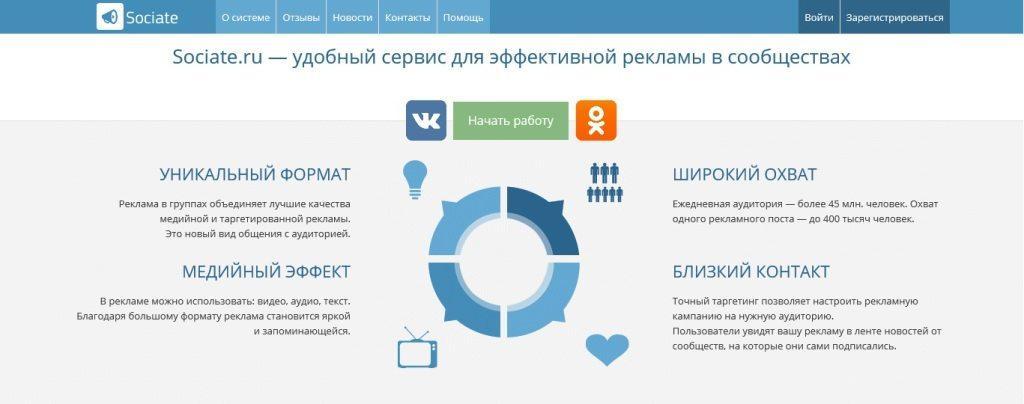 Sociate.ru - автоматическое размещение постов в соц. сетях