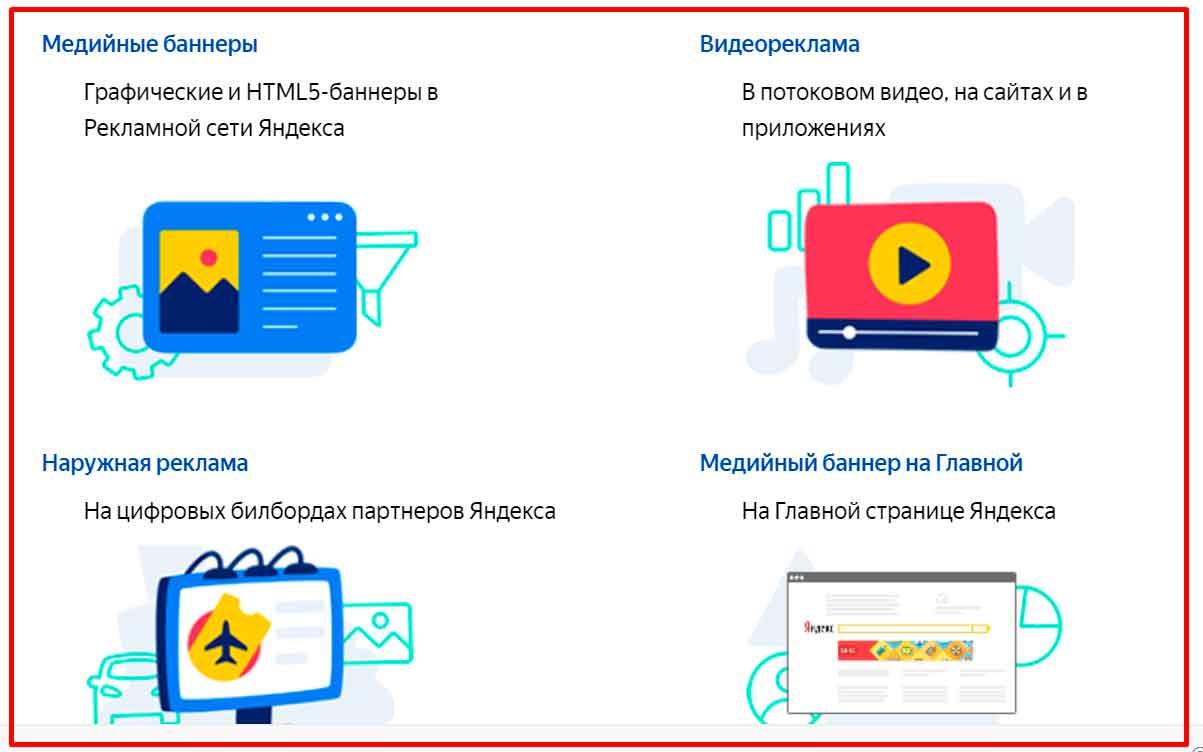 Медийная реклама в Яндекс Директ