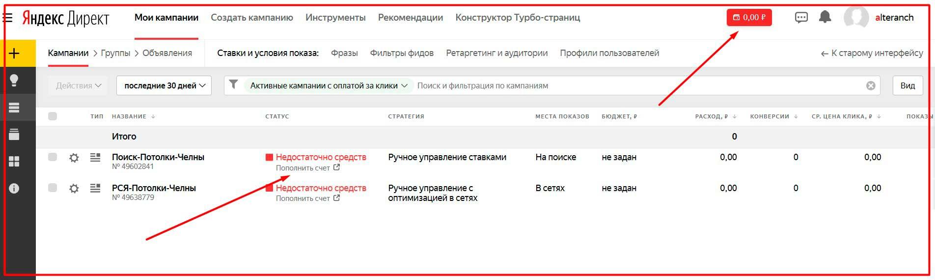 Яндекс Директ настройка