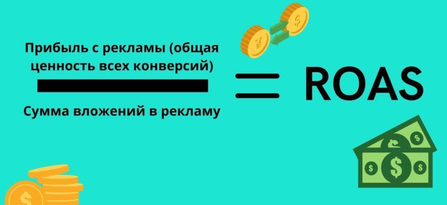 ROAS (Return on Ad Spend). Возврат рекламных инвестиций