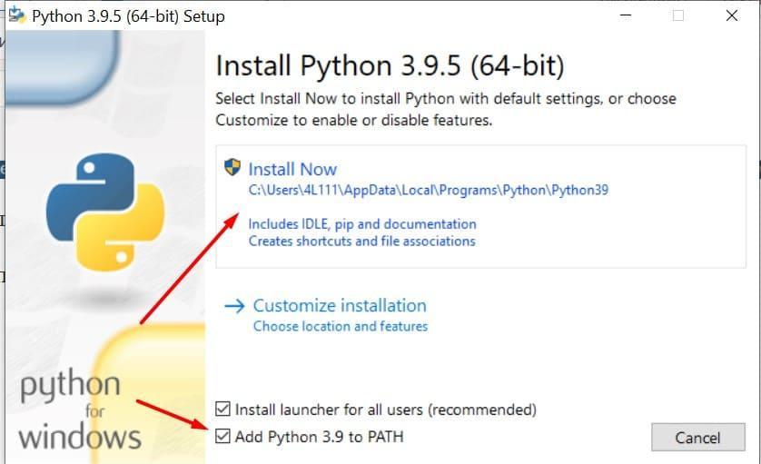 Установка Python на windows. Последовательность действий